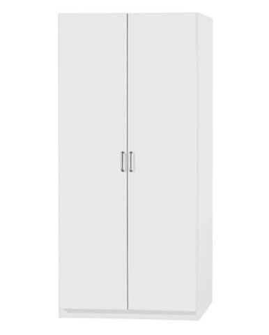 Policová skriňa PARKER biela, výška 210 cm, hĺbka 41 cm