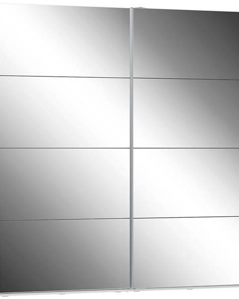 MERKURY MARKET Skriňa Olivia 220 biela/zrkadlo 2D