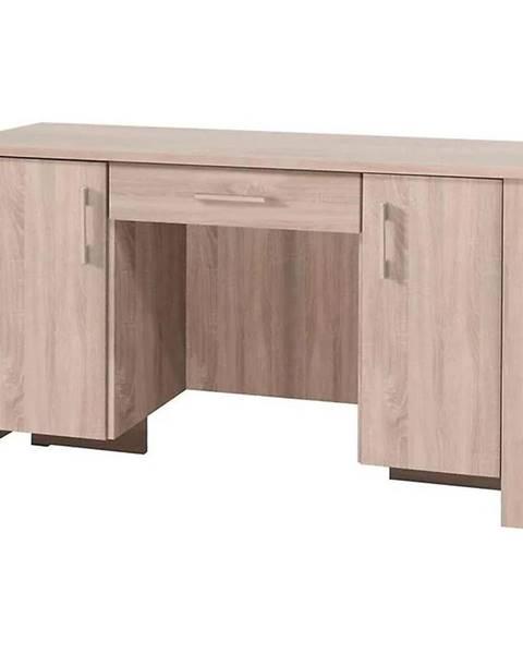 MERKURY MARKET Písací stôl so zásuvkou Cezar 17  Sonoma