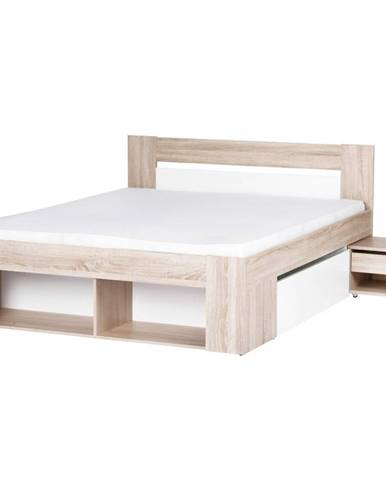 Posteľ 160 Nočný stolík 2ks. 2SMilo 09 Dub Sonoma 3D/B