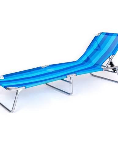 HAPPY GREEN Lehátko plážové SUNBAY 186 x 53 x 24 cm, svetlo modrá 50401300LB