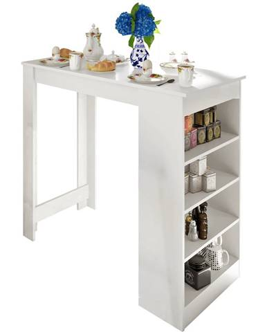 Barový stôl biela AUSTEN