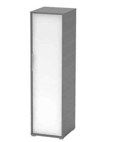 Vešiaková skriňa grafit/biela RIOMA NEW TYP 20