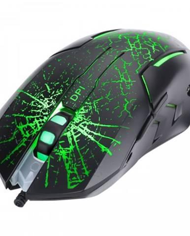 Drôtová myš Marvo M207, herná, podsvietená, 6 tlačidiel, čierna