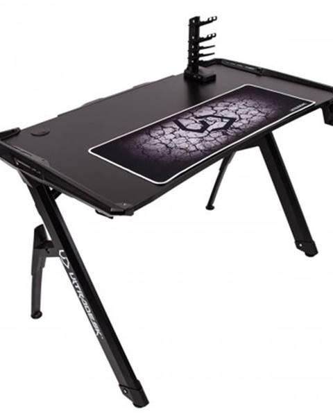 Ultradesk Herný stôl ULTRADESK INVADER čierny UDESK-IN-BB + ZDARMA podložka pod myš a hub