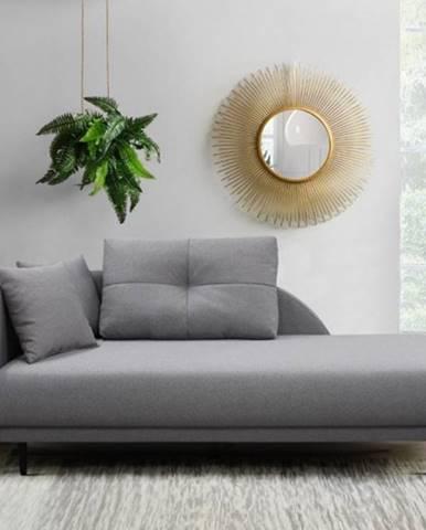 Leňoška Ize s úložným priestorom, ľavá strana, sivá