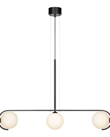 Čierne závesné svietidlo Markslöjd Pals Pendant Black White, 3L