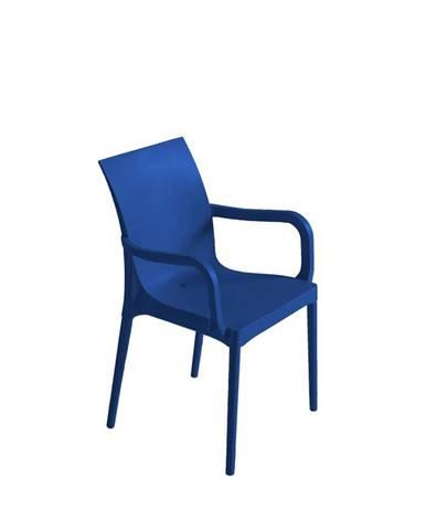 Plastová Stolička S Podrúčkami Eset Modrá