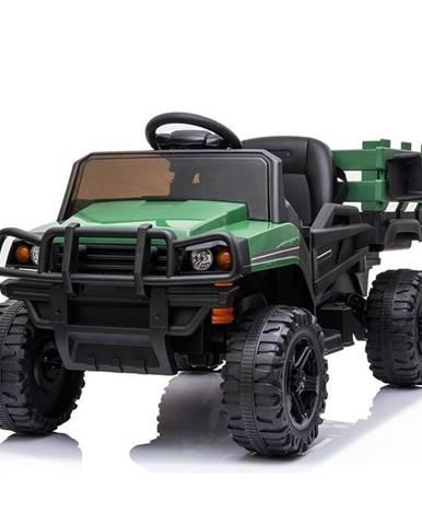 Elektrické auto MaDe s nákladním prostorem černo/zelen