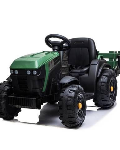 Elektrický traktor MaDe s přívěsem černo/zelen