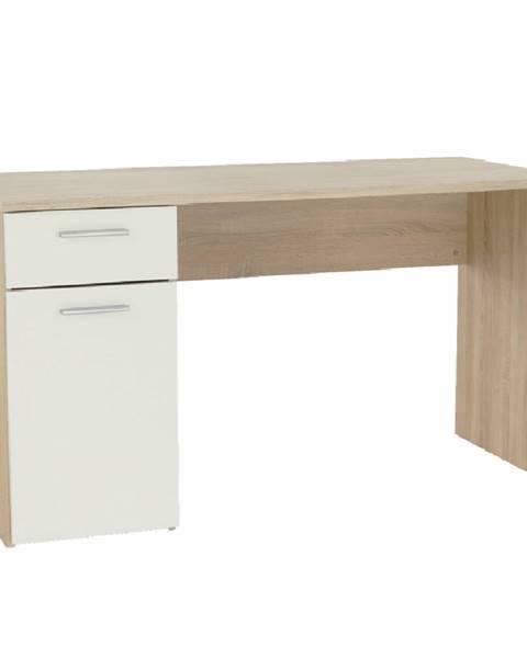 Kondela Písací stôl dub sonoma/biely EGON