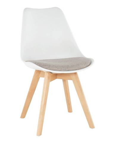 Stolička biela/sivobéžová DAMARA