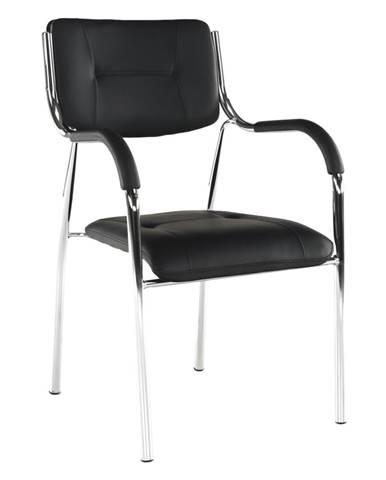 Stohovateľná stolička čierna ILHAM rozbalený tovar
