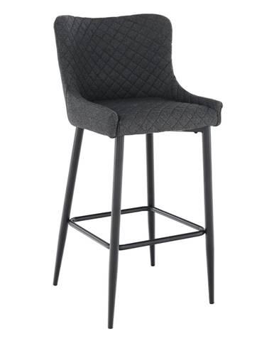 Barová stolička sivá/čierna CEZARIA rozbalený tovar