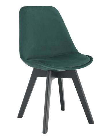 Stolička emerald Velvet látka/čierna LORITA rozbalený tovar