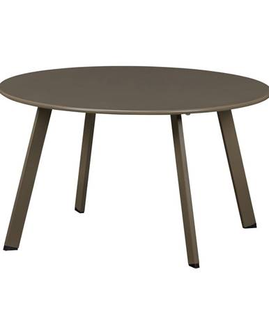 Zelený železný záhradný konferenčný stolík WOOD Fer, ø 70 cm