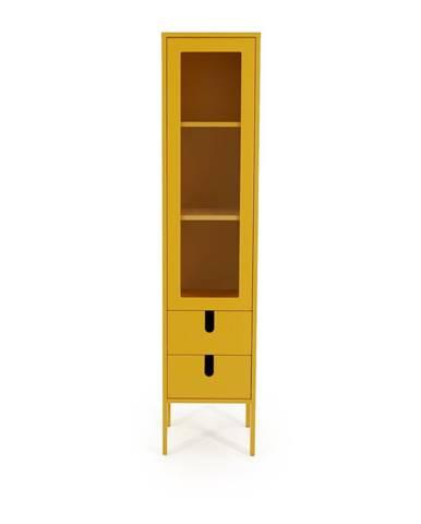 Žltá vitrína Tenzo Uno, šírka 40 cm