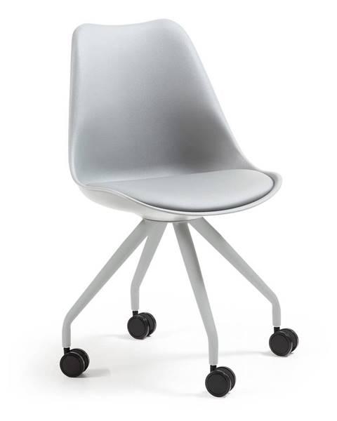 La Forma Sivá kancelárska stolička La Forma Lars