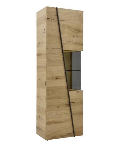 Voglauer VITRÍNA, divý dub, sivá, farby dubu, 64/202/42,3 cm - sivá, farby dubu