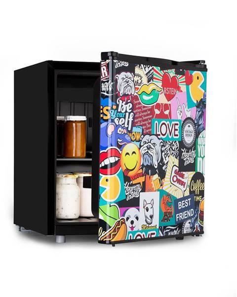 Klarstein Klarstein Cool Vibe 48+, chladnička, A+, 48 litrov, VividArt Concept, štýl stickerbomb