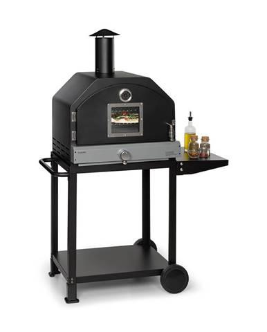 Klarstein Pizzaiolo Pro, plynový gril na pizzu, 76x143x66cm, šamotový kameň, oceľ, prenosný