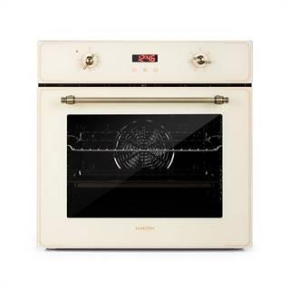 Klarstein Elizabeth, vstavaná rúra, retro dizajn, 6 funkcií, 50 – 250 °C, krémová