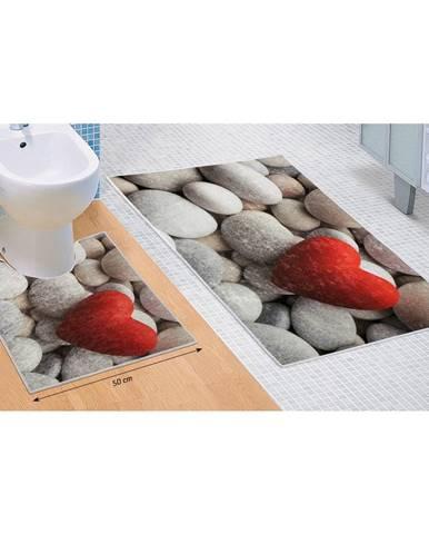 Bellatex Sada kúpeľňových predložiek Svetlé kamene 3D, 60 x 100 cm, 50 x 60 cm