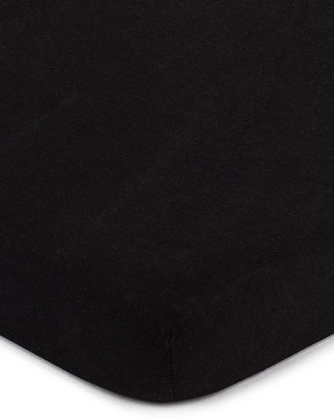 4Home 4home jersey prestieradlo čierna, 90 x 200 cm