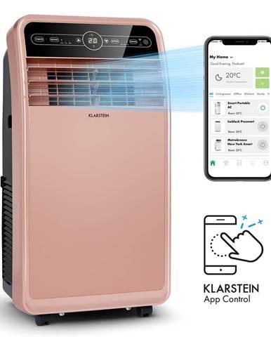 Klarstein Metrobreeze New York Smart 12k, mobilná klimatizácia, 12000 BTU/3,5 kW, energetická trieda A, diaľkový ovládač, ružovozlatá
