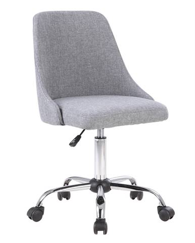 Kancelárska stolička sivá/chróm EDIZ