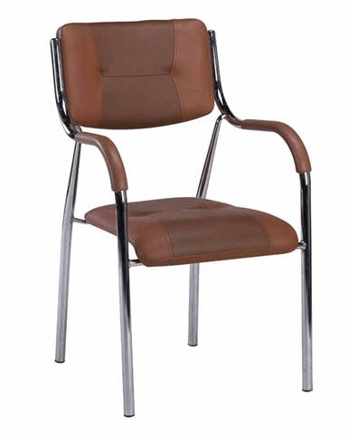 Stohovateľná stolička hnedá ILHAM