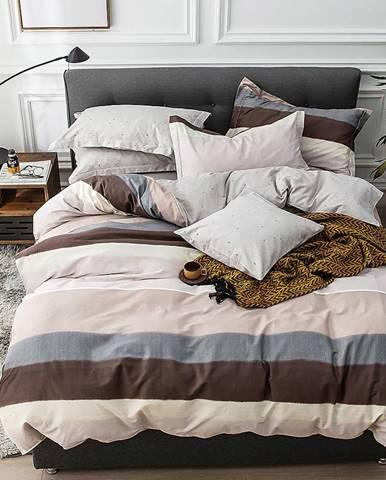 Bavlnená saténová posteľná bielizeň ALBS-01095B 200X220