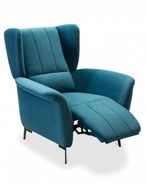 OKAY nábytok Kreslo Bifi polohovacie modré