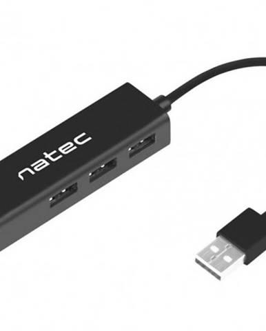 Hub Natec Dragonfly, USB 2.0 / 3x USB 2.0, RJ45