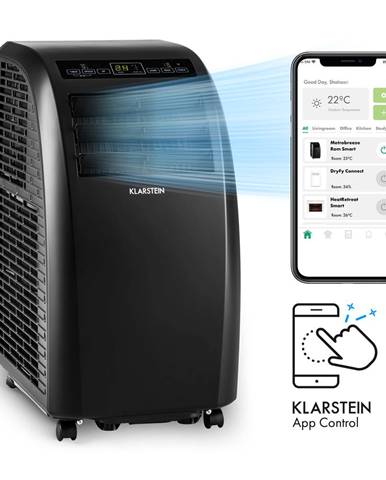 Klarstein Metrobreeze Rom Smart, mobilná klimatizácia, 10000 BTU/3,0 kW, energetická trieda A, diaľkový ovládač