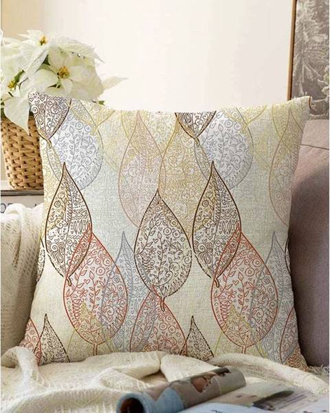Minimalist Cushion Covers Obliečka na vankúš s prímesou bavlny Minimalist Cushion Covers Oriental Leaf, 55 x 55 cm