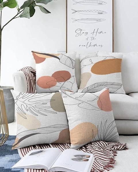 Minimalist Cushion Covers Súprava 4 obliečok na vankúše Minimalist Cushion Covers Uma, 55 x 55 cm