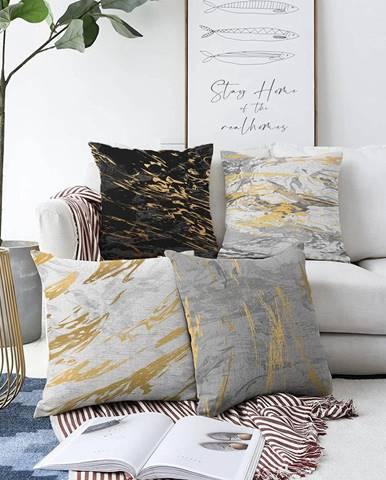Súprava 4 obliečok na vankúše Minimalist Cushion Covers Artsy, 55 x 55 cm