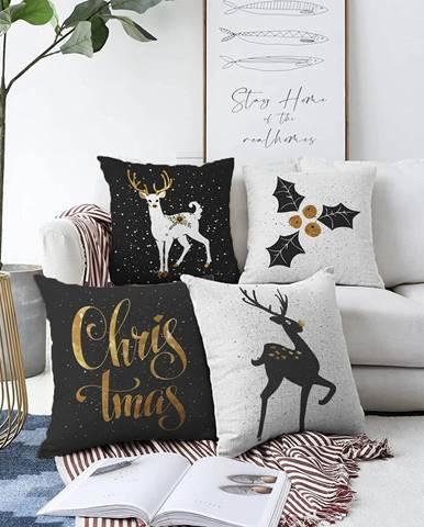 Súprava 4 obliečok na vankúše Minimalist Cushion Covers Christmas, 55 x 55 cm