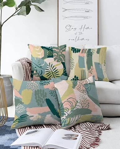 Súprava 4 obliečok na vankúše Minimalist Cushion Covers Cove, 55 x 55 cm