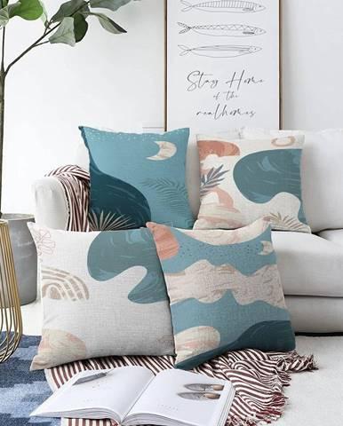 Súprava 4 obliečok na vankúše Minimalist Cushion Covers Under Water, 55 x 55 cm