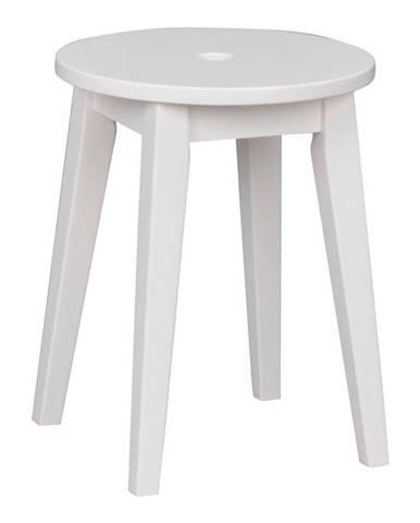 Biela stolička s nohami z brezového dreva Rowico Metro, výška 44 cm