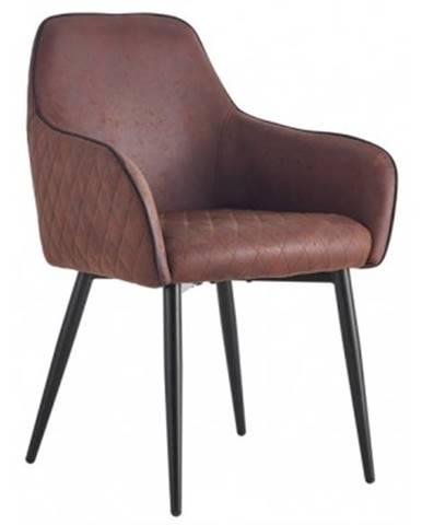 Jedálenská stolička Colonial, hnedá vintage%