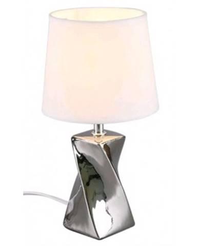 Stolná lampa Abeba, lesklá strieborná%