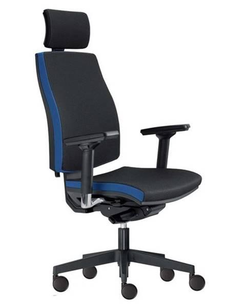 Sconto Kancelárska stolička JOHN čierna/modrá