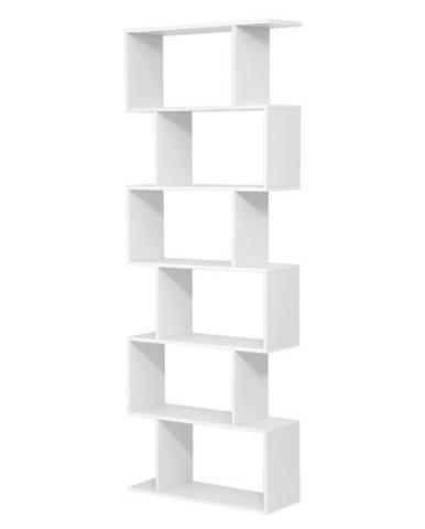 Regál/knižnica LBC61 biela