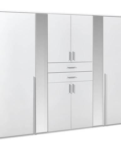Carryhome ŠATNÍKOVÁ SKRIŇA, biela, 270/210/58 cm - biela