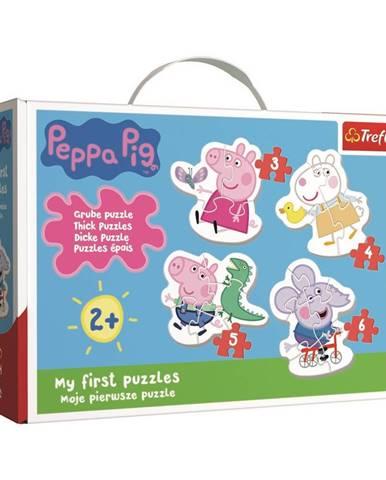 TREFL Baby puzzle Prasátko Peppa 4v1 (3,4,5,6 dílků)