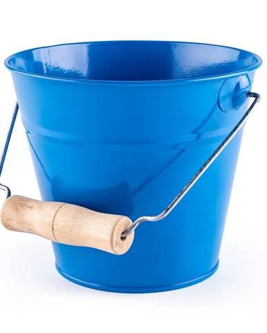 Woody Záhradné kovové vedierko 15 x 13 cm, modrá