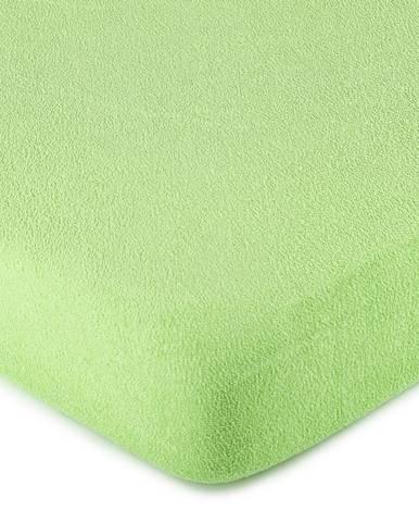 4Home froté prestieradlo zelená, 90 x 200 cm